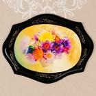 Панно «Цветы», 21×27 см, лаковая миниатюра микс
