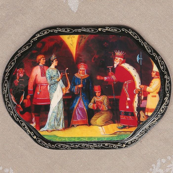 Панно «Сказки», 16х22 см, лаковая миниатюра, микс
