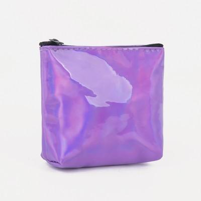 Women's wallet 13-02-01 Gloss, 8*1,5*10, zippered otd, lilac