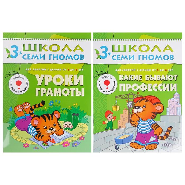 Школа Семи Гномов 3-4 года. Полный годовой курс (12 книг с играми и наклейкой). Автор: Денисова Д.
