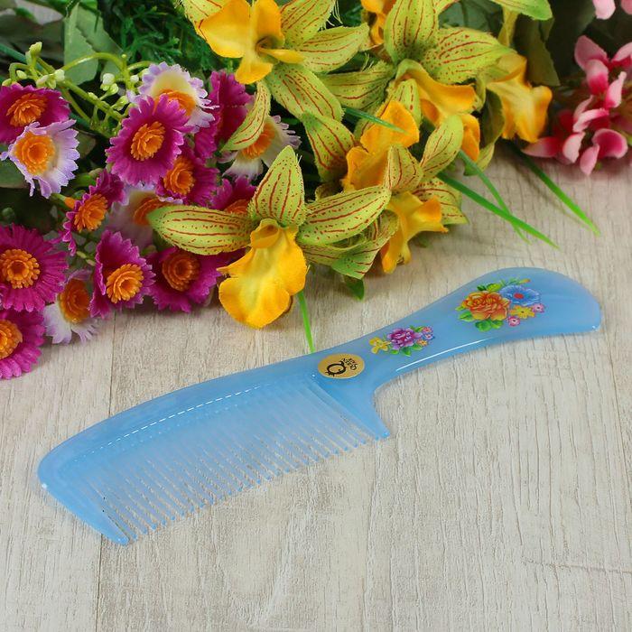Расчёска с ручкой, цвета МИКС