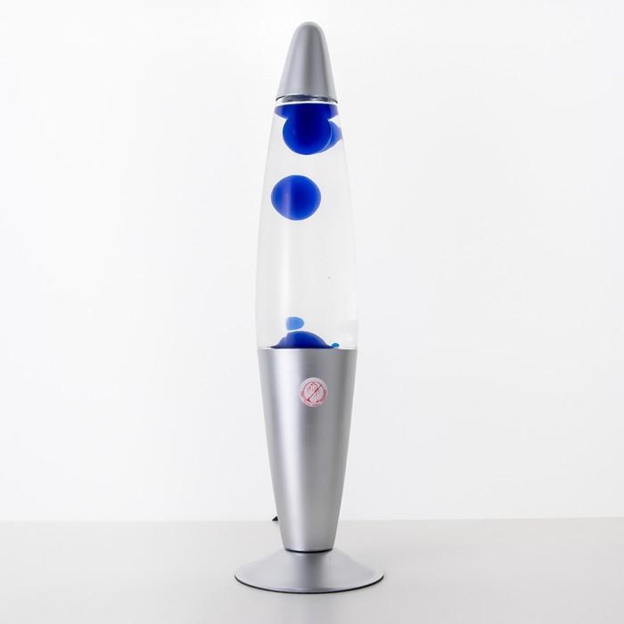 """Лава-лампа """"Голубые капли"""", h=41см"""
