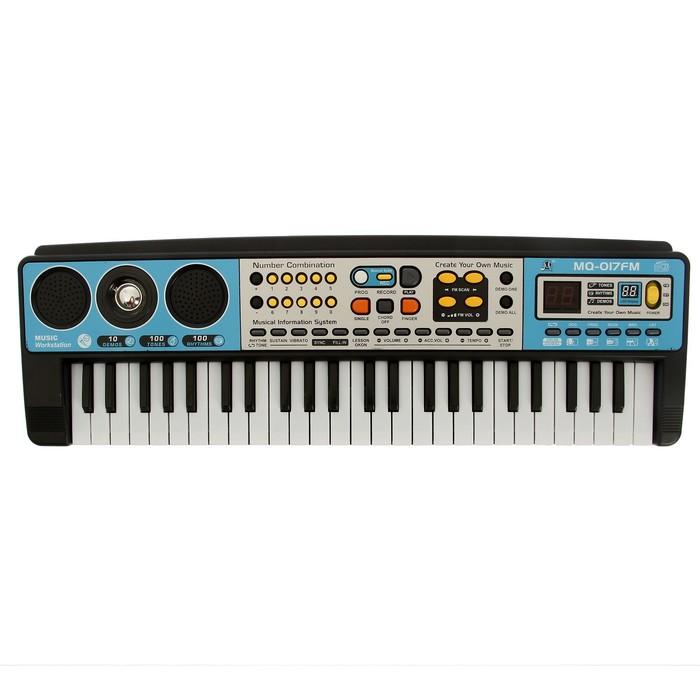 Синтезатор «Музыкальный взрыв», 49 клавиш с радио, работает от сети и от батареек