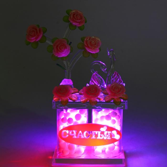 """Сувенир """"Пара лебедей в розах"""" Счастье"""