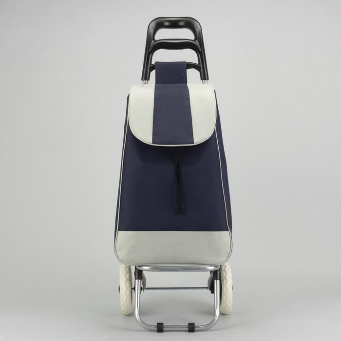 Сумка хозяйственная на колёсах «Садовник», отдел на шнурке, нагрузка до 25 кг, цвет синий