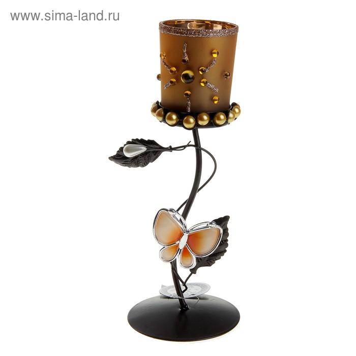 """Подсвечник """"Бабочка"""", цвет кофе"""