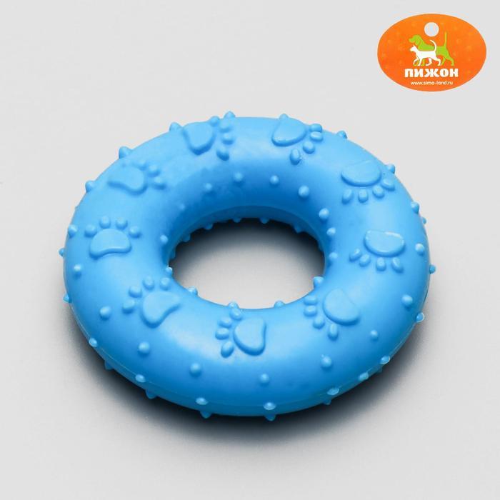 """Игрушка резиновая жевательная """"Пончик"""", 7 см, микс цветов"""