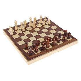 """Шахматы """"Подарочные"""", фигуры и доска дерево 30х30 см"""