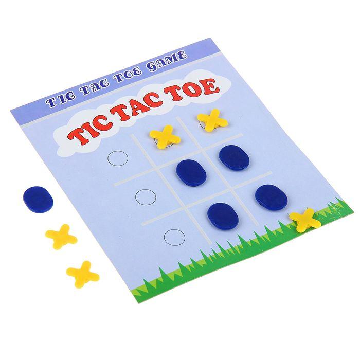 """Игра настольная """"Крестики-нолики"""", поле 14 × 14 см, в коробке"""