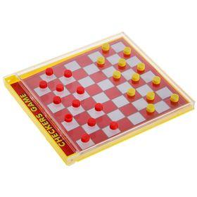 """Игра настольная """"Шашки с кубиками"""", упаковка стилизована под коробку для CD-диска"""
