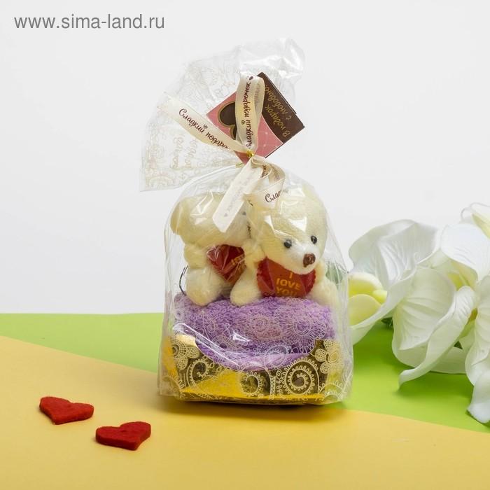 Сувенирное полотенце Мишки 20*20 см - 2 шт  МИКС