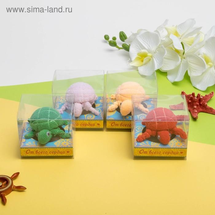 Сувенирное полотенце Черепашка 30*30 см МИКС
