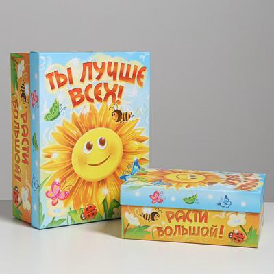 Набор подарочных коробок 2 в 1 «Ты лучше всех », 27.8 × 21 × 11, 37 × 28 × 13.8 см