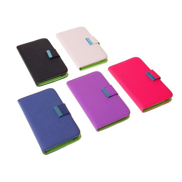 """Чехол для телефона Samsung Galaxy Note, 9220, откидной, """"Стиль"""", с магнитным замком, МИКС"""