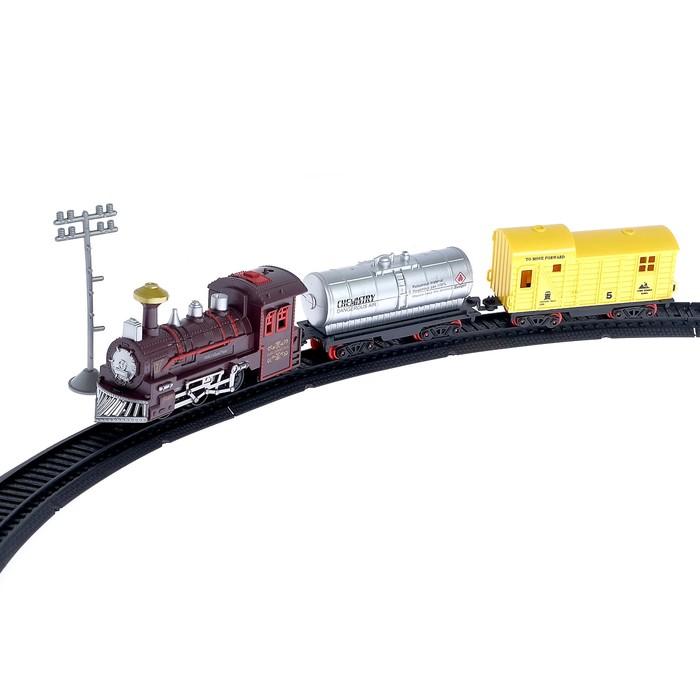 """Железная дорога """"Классический поезд"""", со светозвуковыми эффектами, протяжённость пути 2,6 м"""