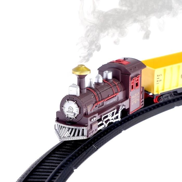 """Железная дорога """"Классический поезд"""", со светозвуковыми эффектами, протяжённость пути 2,89 м"""