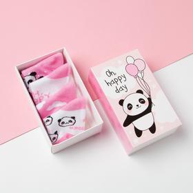 """Набор носков Крошка Я """"Панда"""", 4 пары, 10-12 см"""