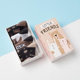 """Набор носков Крошка Я """"Friends"""", 4 пары, 6-8 см"""