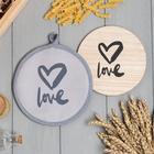 """Kitchen set """"Love"""" pot holder, stand for hot food"""