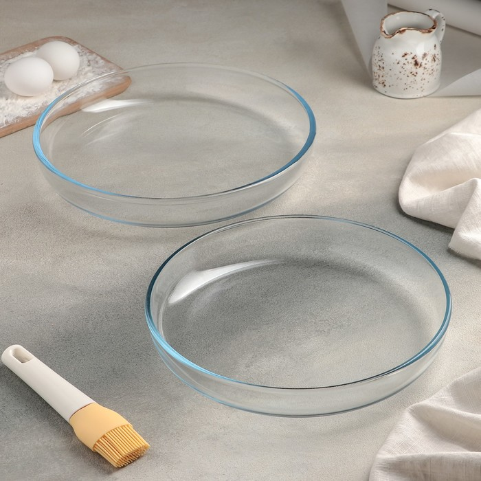 Набор форм для запекания, 2 шт.: 26 см, 28 см, термостойкие, глубина 3,5 см