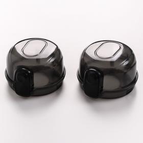 Набор накладок на ручки плиты, цвет черный
