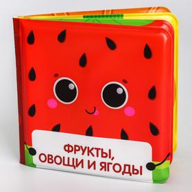 Развивающая книжка для игры в ванной «Фрукты и офощи» с пищалкой