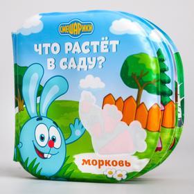 """Книжка для игры в ванной СМЕШАРИКИ """"Что растёт в саду"""" водная раскраска"""