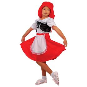 Карнавальный костюм «Красная шапочка», шапка, блузка, юбка, р. 34, рост 134 см