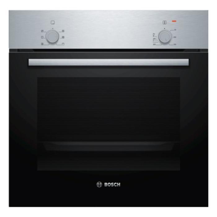 Духовой шкаф Bosch HBF010BR1R, электрический, 3300 Вт, класс А, 66 л, серебристо-черный