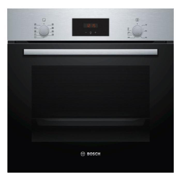 Духовой шкаф Bosch HBF114ES0R, электрический, 3300 Вт, класс А, 66 л, серебристо-черный