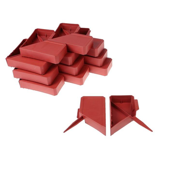 Ограждение декоративное, 13 х 300 см, 24 секции, пластик, терракотовое, «Кирпич»