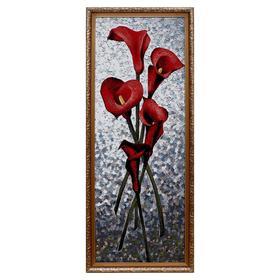 "Гобеленовая картина ""Каллы красные"" 35х95 см"