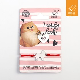 Подвес для собаки и браслет на руку «Шпиц»