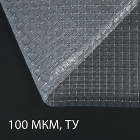 Плёнка полиэтиленовая, армированная, толщина 100 мкм, 2 × 25 м, леска
