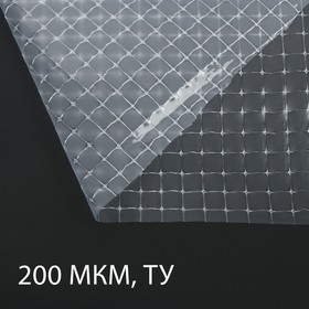 Плёнка полиэтиленовая, армированная, толщина 200 мкм, 2 × 25 м, леска
