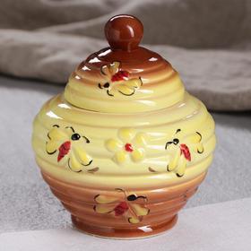 "Бочонок для мёда ""Улей"", жёлто-коричневый, 0.6 л"