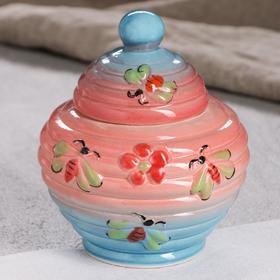 """Бочонок для мёда """"Улей"""", розово-голубая, 0.6 л"""