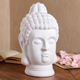 """Копилка """"Голова Будды"""", белая, 32 см"""