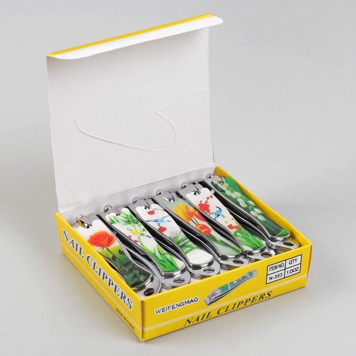 Кусачки-книпсер педикюрные, с пилкой, 7,6(±0,5)см, цвет МИКС