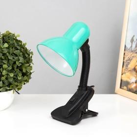 Лампа настольная Е27, с выкл. на зажиме (220В) зеленая (108В)