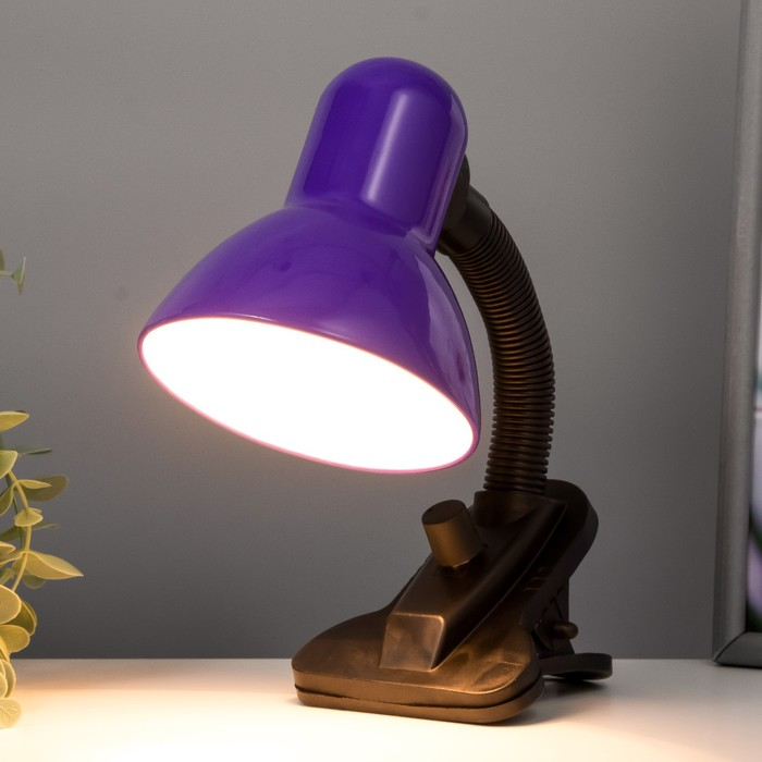 Настольная лампа на прищепке Purple, фиолетовая