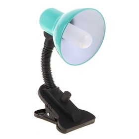 Лампа настольная Е27, светорегулятор, на зажиме (220В) зеленая (108А)