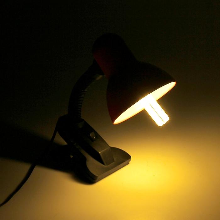 """Лампа настольная на зажиме """"Яркая"""" с выкл., розовая"""