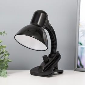Лампа настольная на прищепке Dark чёрная, с регулятором освещения Ош