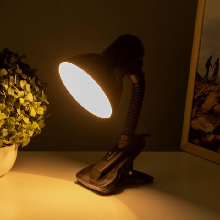 """Лампа настольная на зажиме """"Ночь"""" с выкл., чёрная"""