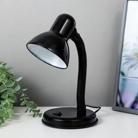 Лампа настольная Е27, с выкл. (220В) черная (203В)