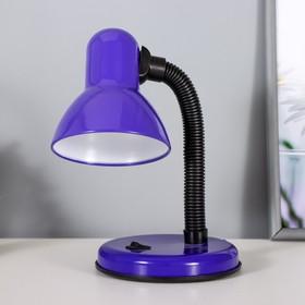 Лампа настольная Е27, с выкл. (220В) фиолетовая (203В)