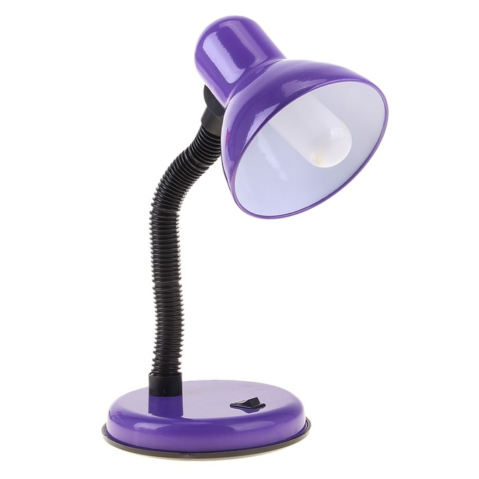 Настольная лампа с кнопкой Lilac, фиолетовая