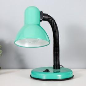 Настольная лампа с кнопкой 'Бирюза' Ош