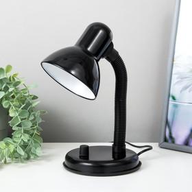 Лампа настольная, светорегулятор 'Ночь', чёрная Ош